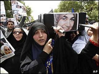 Manifestantes en Teherán
