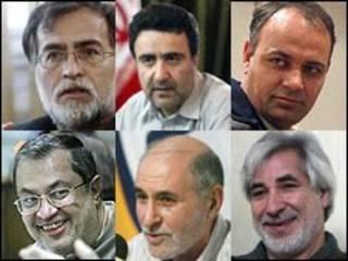 سعید حجاریان، بهزاد نبوی، مصطفی تاج زاده، فیض الله عرب سرخی، احمد زیدآبادی، محمد عطریانفر