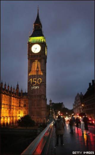 Mensagem de aniversário no Big Ben