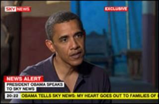 Obama em entrevista (Foto: Sky News/PA Wire)