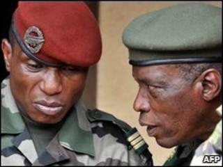 Militares del gobierno de Guinea