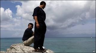 Disfrutando de la libertad en las Bermudas.