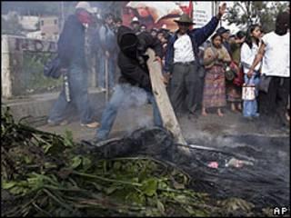 Protestas en Guatemala.