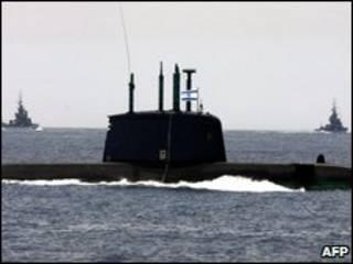 زیردریایی های اسرائیلی در مدیترانه، پنجم مه 2008