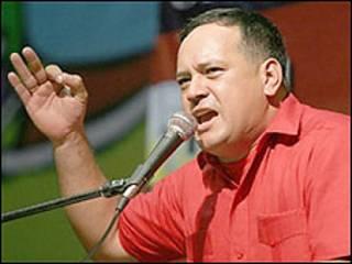 Ministro de Obras Públicas y presidente de la Comisión Nacional de Telecomunicaciones, Diosdado Cabello