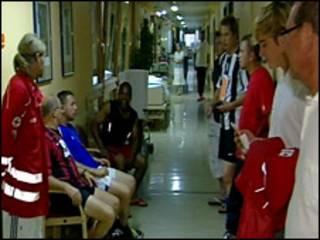 Vítimas do raio em um hospital