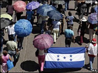 Marcha en Tegucigalpa