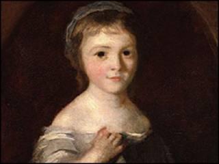 Retrato de Georgiana, Duquesa de Devonshire quando jovem, de Sir Joshua Reynolds