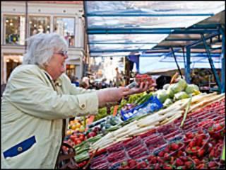 بازار میوه در لندن