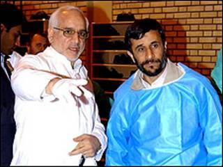 اغازاده مع الرئيس احمدي نجاد