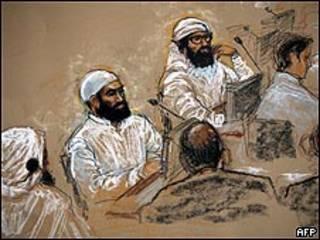 Cinco acusados de planificar los atentados del 11 de septiembre de 2001 en Nueva York y Washington en audiencia en Guantánamo