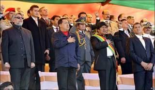 Presidentes Fernando Lugo, Hugo Chávez, Evo Morales y Rafael Correa