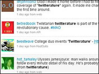 Captura de una página de Twitter.