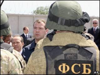 Российский президент Дмитрий Медведев в Дагестане