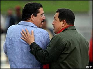 Hugo Chávez y Manuel Zelaya