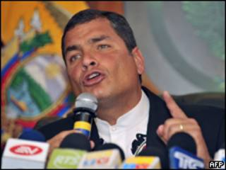 O presidente do Equador, Rafael Correa. Foto: AFP