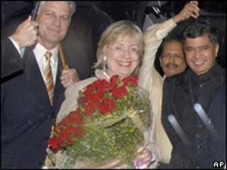 Hillary Clinton en India