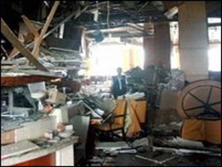 Hiện trường nhà hàng tại khách sạn Ritz-Carlton sau vụ nổ