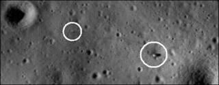 Imagen de la superficie lunar tomada por la LRO