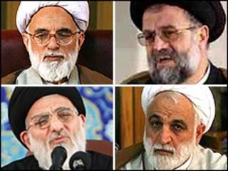 موسوی تبریزی، دری نجف آبادی، اژه ای، شاهرودی
