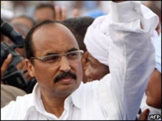 المرشح الفائز بالانتخابات الرئاسية، محمد ولد عبد العزيز