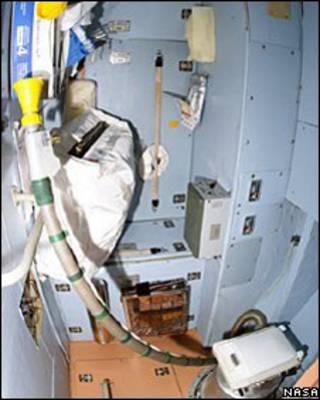 Banheiro da estão espacial internacional (Nasa)
