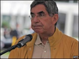 O presidente da Costa Rica, Oscar Arias