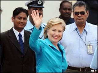 وزيرة خارجية الولايات المتحدة، هيلاري كلينتون