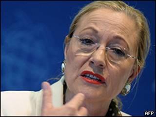 La comisaria de Relaciones Exteriores de la UE, Benita Ferrero-Waldner