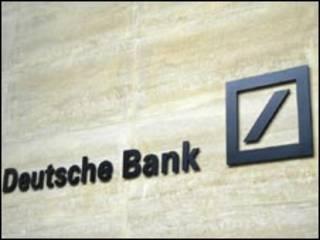 Вывеска Deutsche Bank