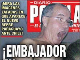 Portada del diario Popular de Paraguay