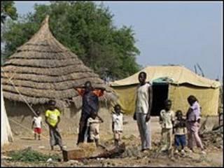 Городок Абьей в Судане