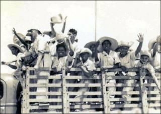 Trabalhadores partem para a Amazônia no início do século 20 (Acervo Jean Pierre Chabloz)