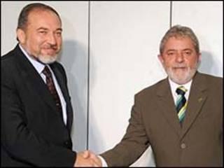 O chanceler Lieberman e o presidente Lula/Agência Brasil