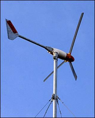 Generador de energía eólica (Foto: Presidencia de Uruguay)
