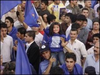 مسيرة انتخابية في كردستان