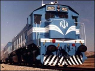 تصویری از یک قطار خطوط راه آهن ایران