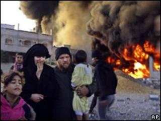 الهجوم على غزة
