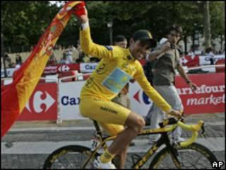 Alberto Contador, ciclista español, ganador del Tour de Francia 2009.