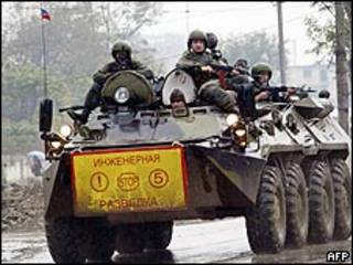 دورية للقوات الروسية في غروزني