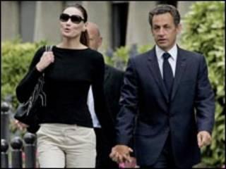 ساركوزي وزوجته