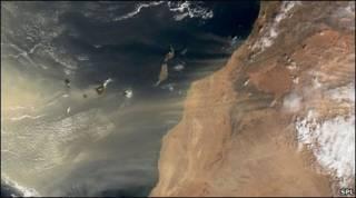 Tempestade de areia no oeste da África (arquivo)