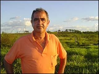 O agricultor Marusan Moreira
