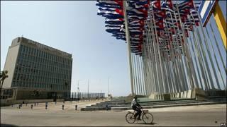 Oficina de intereses estadounidenses en La Habana.