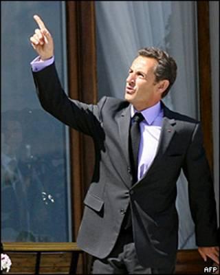 El presidente de Francia, Nicolás Sarkozy