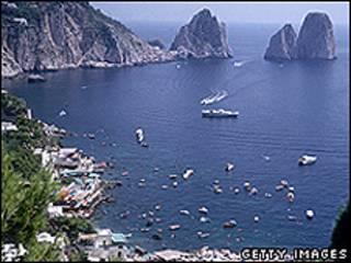 A ilha de Capri, na Itália (Getty Images)