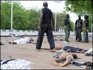 Víctimas de la violencia en Nigeria.