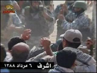 صور نشرت من قبل منظمة مجاهدي خلق توضح احتجاجات سكان المخيم