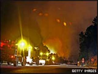 Incendio estival en España