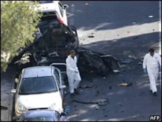 Peritos analisam local da explosão em Mallorca, Espanha (AFP)